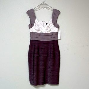 NWT Tiered Grey Adrianna Papell Dress (8)